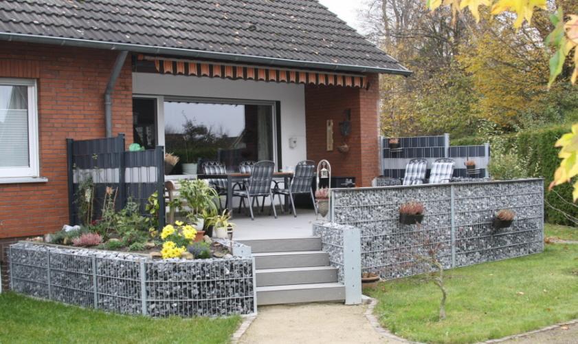 gabionen steink rbe steinwand. Black Bedroom Furniture Sets. Home Design Ideas